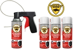 Woolwax® Spray Can Undercoating Kits. Straw(clear), or Black. You choose.  4 can, 6 can, or 12 can.