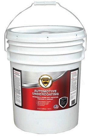 WoolWax® Undercoating Five Gallon Pails. Clear & Black.  Free shipping.